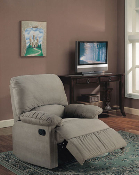 Recliner With Sage Microfiber Fabric