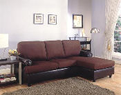Dark Brown Sofa Chaise