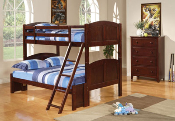 Twin/Full Bunk Bed in Cappuccino Finish