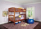 Twin/twin oak finish bunk bed
