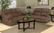 Cafe Microfiber Motion Sofa with Loveseat and Chair Options