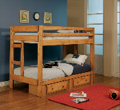 Twin over Twin Bunk Bed with Optional Storage