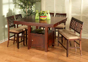 6 Piece Counter Height Dining Set w/ Bench