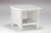 Standard White Finish Solid Wood Key West End Table