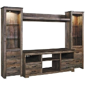 New 4 PC Entertainment Wall Unit