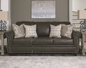 Lawthorn Slate Leather Queen Sofa Sleeper 3260339
