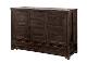 Farmhouse Solid Wood Murphy Cabinet Bed Queen Size