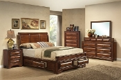 Lincoln (Sleigh) King Storage 4 Piece Set