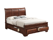 Lincoln (Sleigh) King Storage Bed
