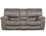 Trent  Reclining Console Loveseat  Charcoal