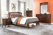 Whiskey KIng 4 Piece Bedroom Set