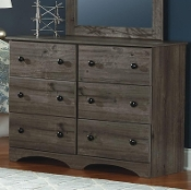 6 Drawer Dresser Weathered Gray Ash 13446