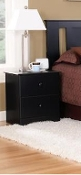 2 Drawer Night Stand Black 5212
