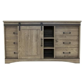 6 Drawer Dresser Weathered Gray Ash 60627
