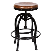 Adjustable Metal Bar Stool 1725RO (Last One!)