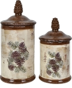 Pinecone Canisters Set Of 2 Canister CVJDP830
