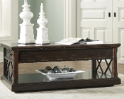 Roddinton Dark Brown Lift Top Cocktail Table T701-9