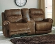 Austere Brown Double Reclining Loveseat w/ Console 3840094