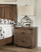 2 Drwr Night Stand Walker - Aspen Oak 75242
