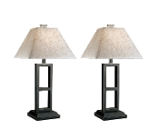 Deidra Black Metal Table Lamp (Set of 2)