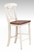 "24"" Bar Stool MERLOT/BUTTERMILK (Closeout!)"