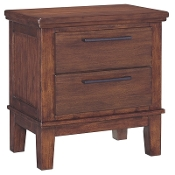 Ralene Medium Brown Two Drawer Night Stand B594-92