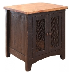 370 PUEBLO BLACK END TABLE IFD370END