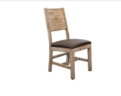 COSTA Side Chair W/FAUX LEATHER SEAT (CLOSEOUT)