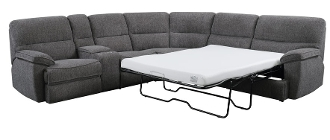 Aurora 3 PC. Sleeper Sectional Platinum