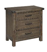 Galleon 3 Drwr Night Stand Weathered Walnut B1111-040