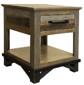 LOFT BROWN END TABLE IFD6441END