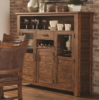 Timberline Tall Buffet with Doors, Drawers, and Wine Storage