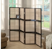 Four Panel Folding Screen With Removable Shelves(LAST ONE!)