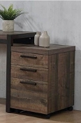Weathered Oak Mobile File Cabinet (LAST ONE!)