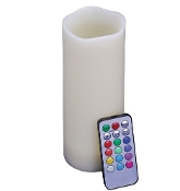 LED CANDLE W/REMOTE vanilla scented flameless candle