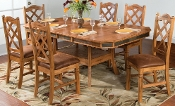 Sedona Dual Height Ext. Dining Table w/ Dbl Butterfly Leaves Set