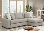 Brahms Reversible Sectional W/storage, Gray