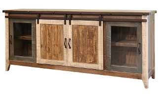 "Rustic Antique 70"" TV CONSOLE"