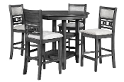 Gia  5 PC Counter Height Dining Set Grey