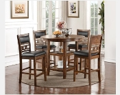 Gia 5 PC Counter Dining Height Set Brown