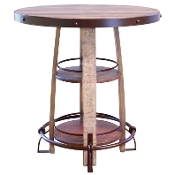 ANTIQUE COLLECTION Bistro Table/Solid Iron& Wood