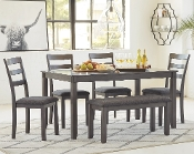 Bridson 6 PC Dining Set Grey