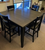"Merrill Creek GATHERING TABLE W/18"" Leaf & 4 Stools"