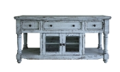 "Aruba Sky Blue TV Stand/Server 70"" w/3 drawers"
