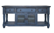 "Aruba Dark Blue TV Stand/Server 70"" w/3 drawers"