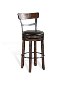 "30"" Barstool W/ Back/Tobacco Leaf finish"